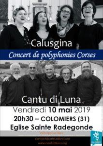 Calusgina et Cantu di Luna à Colomiers – 10 mai 2019