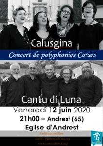 ANNULE – Calusgina et Cantu di Luna en Concert à Andrest (65) – 09 octobre 2020