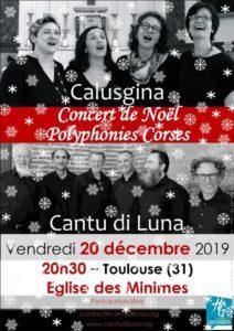Concert de Noël à l'Église St François de Paule des Minimes (Toulouse) – 10 décembre 2019